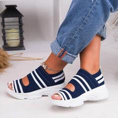 Bayanlar bez ağ Sivri topuk Sandalet Flats Takozlar Peep Toe topuk Ile Diğerleri ayakkabı