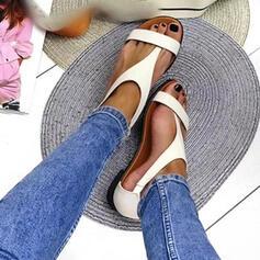 пряжка Сплошной цвет обувь