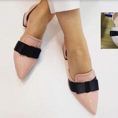De mujer PU Tacón ancho Dedo del pie puntiagudo con Bowknot zapatos