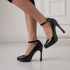 Dla kobiet PU Obcas Stiletto Czólenka Spiczasty palec u nogi Z Klamra obuwie