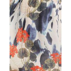 Nadrukowana/Kwiatowy Rękawy 1/2 W kształcie litery A Długośc do kolan Casual Łyżwiaż Sukienki
