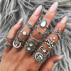 Stylish Alloy With Imitation Stones Jewelry Sets Rings