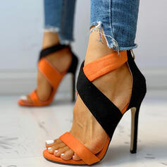 Женский замша Стилет каблук Сандалии Peep Toe обувь