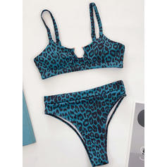 Solid Color High Leg Strap Sexy Beautiful Classic Bikinis Swimsuits