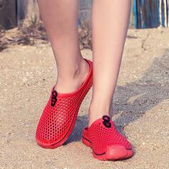 Kvinnor Mesh Flat Heel Tofflor med Ihåliga ut skor