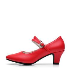 De mujer zapatos de personaje Tacones Salón Piel Sala de Baile