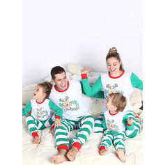 Hjort Stripe Cartoon Familie matchende Jule Pyjamas Pyjamas