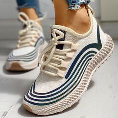 De mujer Tela Casual al aire libre Atlético con Cordones zapatos