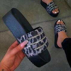 Women's Plastics Flat Heel Slippers shoes