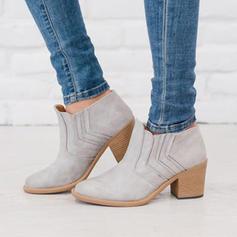 De mujer PU Tacón ancho Salón Cerrados Botas con Otros zapatos