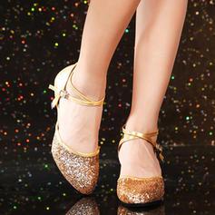 De mujer Sala de Baile Tacones Cuero Brillo Chispeante Estilo Moderno