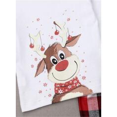 Deer Kratę Kreskówka Rodzinne Dopasowanie Świąteczne piżamy