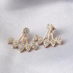 Hermoso Aleación Diamantes de imitación con Rhinestone Señoras' Pendientes de la manera