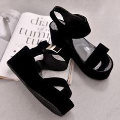 De mujer Ante Tipo de tacón Sandalias Encaje Solo correa con Hebilla zapatos