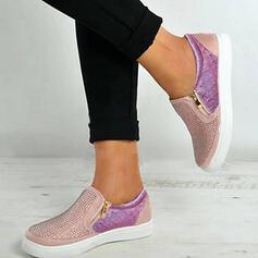 Bayanlar PU Ile Fermuar Oymak ayakkabı