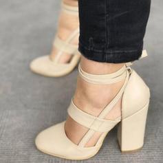 Kvinner PU Stiletto Hæl Sandaler Pumps med Blondér sko