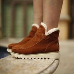Pentru Femei Piele de Căprioară călcâi pe toc Cizme de iarna Cizme de Iarnă cu Culoare solida pantofi