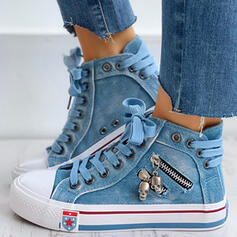 De mujer Lona Casual al aire libre Atlético con Cremallera Cordones zapatos