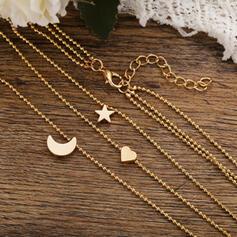 Wyjątkowy Szykowny Stop Zestawy biżuterii Naszyjniki