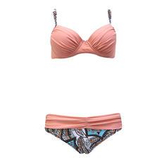 Triángulo Empujar Correa Sexy Talla extra Bikinis Trajes de baño