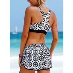 Tropische afdruk Riem Sexy Bikini's Badpakken