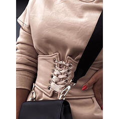 Solid Long Sleeves Bodycon Above Knee Casual Sweatshirt Dresses