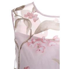 Impresión/Floral Sin mangas Acampanado Hasta la Rodilla Vintage/Casual/Fiesta/Elegante Vestidos