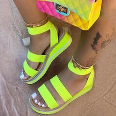 Dla kobiet Skóra ekologiczna Obcas Koturnowy Sandały Platforma Koturny Otwarty Nosek Buta Z Łączona obuwie