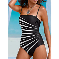 Color Block Strap Sexy Fashionable One-piece Swimsuits