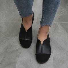 Mulheres PU Sem salto Sem salto com Ruched Outros Cor sólida sapatos