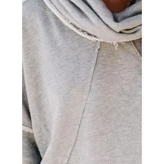 Solid Long Sleeves Hoodie