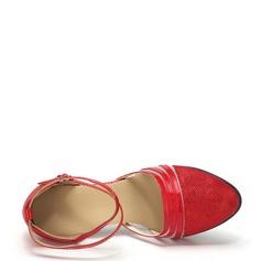 Kvinner Ballrom Hæle Sandaler Lær moderne stil