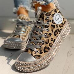 De mujer Juan Casual al aire libre con Estampado de animales Cordones zapatos
