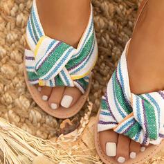 Women's Suede Flat Heel Sandals Peep Toe With Buckle shoes