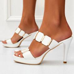 Bayanlar PU Topuklu ayakkabı Pompalar Peep Toe Terlik topuk Ile Yapay elmas ayakkabı