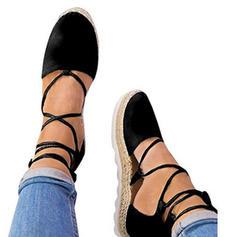 Női Szarvasbőr Ékelt sarkú Emelvény Ékelt szandál -Val Lace-up cipő