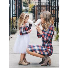 Mamma og meg Plaid matchende Kjoler
