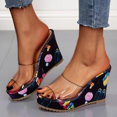 Mulheres PU Plataforma Sandálias Chinelos com Outros sapatos