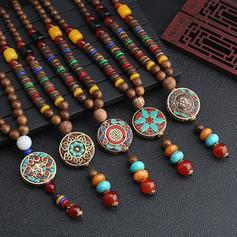 Único Bonito Elegante Cerâmica com Resina Brincos