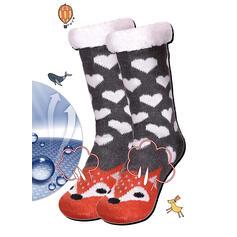 Print/Animal Print Warm/Christmas/Crew Socks/Non Slip/Unisex Socks