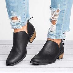 Mulheres Tecido Salto baixo Sem salto Botas com Outros sapatos