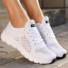 Плоский каблук Квартиры Круглый носок кроссовки с Выдолбить Сплошной цвет обувь
