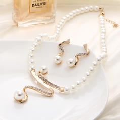 Estilo clásico Aleación La perla de faux con Perlas de imitación Señoras' Sistemas de la joyería