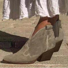 Femmes PU Talon bas Bottes avec Autres chaussures