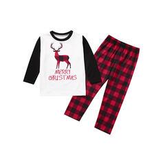 Ren Geyiği Carouri Literă Aile Eşleşen Noel Pijamaları