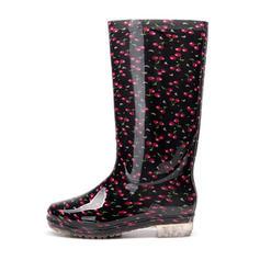 Mulheres PVC Salto baixo Botas Bota no joelho Botas de chuva com Outros sapatos