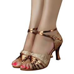 Mulheres Latino Saltos Espumante Glitter Latino