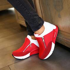 De mujer Ante Casual al aire libre Atlético Excursionismo con Cremallera Color de empalme zapatos