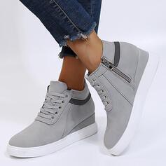 Női Műbőr Egyéb Lakások Alacsony felső -Val Cipzár Lace-up cipő