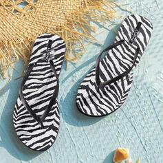 Mulheres PVC Sem salto Sandálias Chinelos Chinelos com Animal da Cópia Carta sapatos